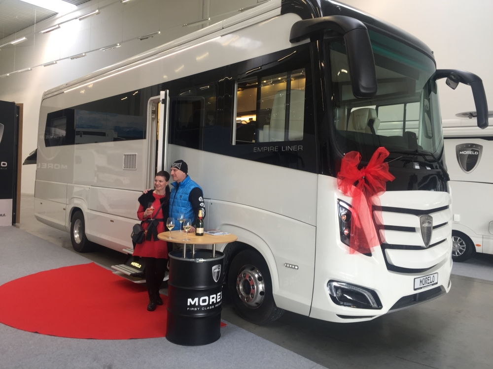 Slavnostní předání obytného vozu Morelo EMPIRE LINER 100 GB